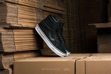 Vans Sk8hi Black White Premium vans sk8 hi reissue premium leather black true white footshop