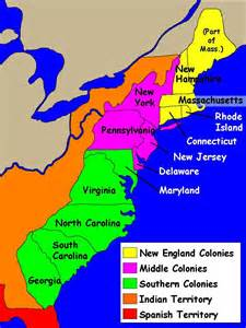 map of colonial the new colonies