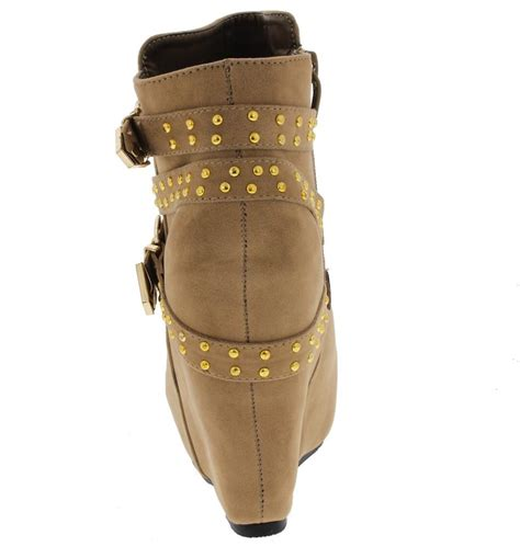 Boots Wedges 88 yuki2 taupe fashion studded wedge s boots from 12 88 27 88