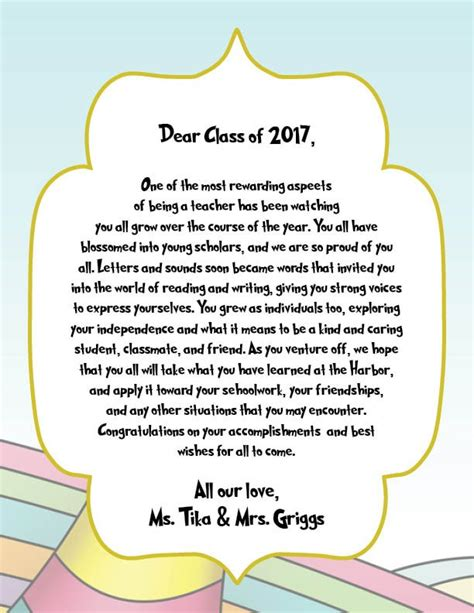Graduation Letter To Students From
