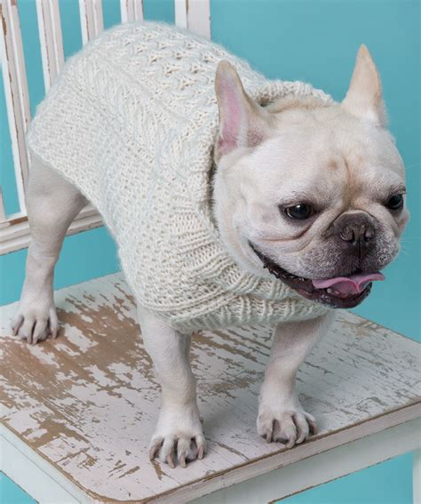 patterns for knitting dog sweaters with cables cabled dog sweater knitting pattern red heart