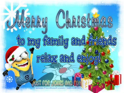 merry christmas   family  friends minion quote pictures   images  facebook