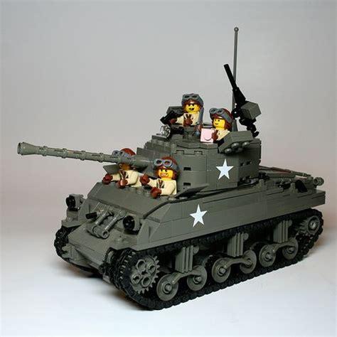 lego army tank us sherman tank with crew lego tank