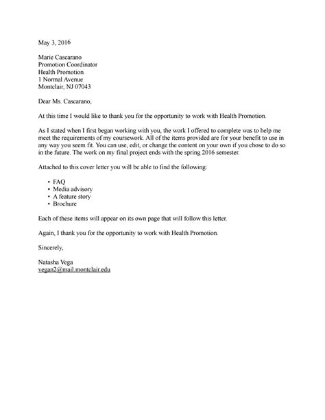 Promotion Coordinator Cover Letter Health Promotion Coordinator Cover Letter Research And