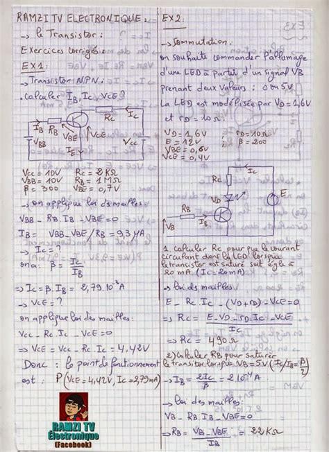 transistor npn exercices corrigés pdf diodes exercices corriges pdf 28 images ch 9 le circuit 201 lectrique exercices correction