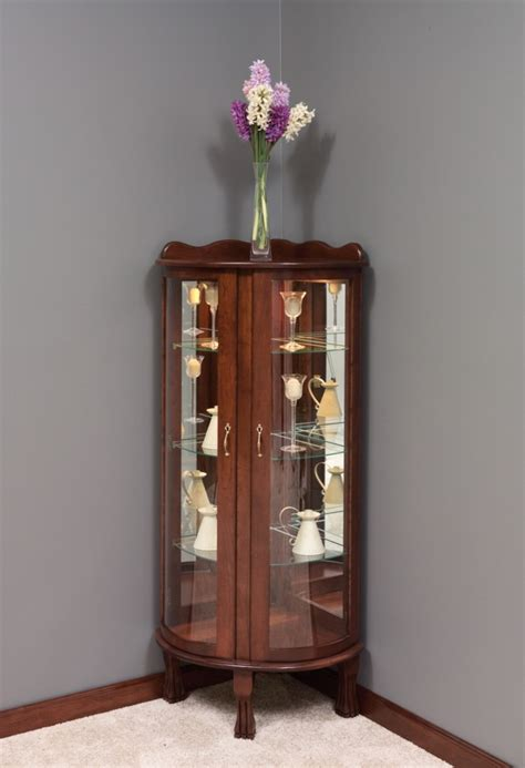 small corner curio cabinet corner curio amish swings things