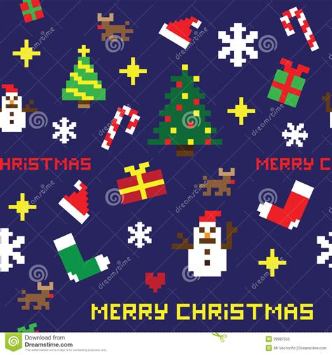 christmas pattern game seamless retro pixel game christmas pattern royalty free
