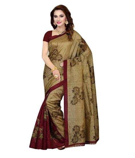ishin multicoloured bhagalpuri silk saree buy ishin multicoloured bhagalpuri silk saree