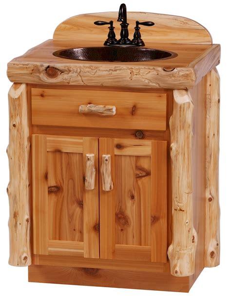 Rustic Northwood S Cedar Log Vanity Log Bathroom Log Bathroom Vanity