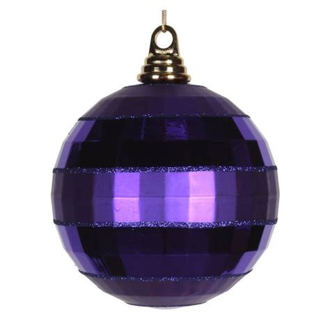 plum colored christmas balls vickerman 376966 purple colored tree ornament