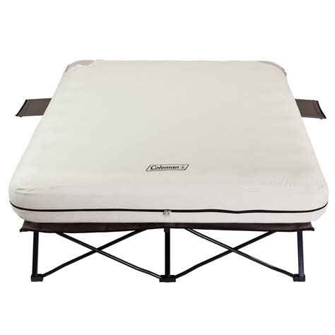 queen cot bed queen airbed cot with side tables coleman 2000020270