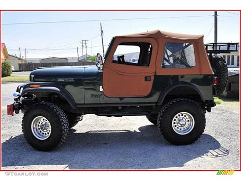 green jeep cj 1983 sherwood green metallic jeep cj 7 4x4 47767250 photo