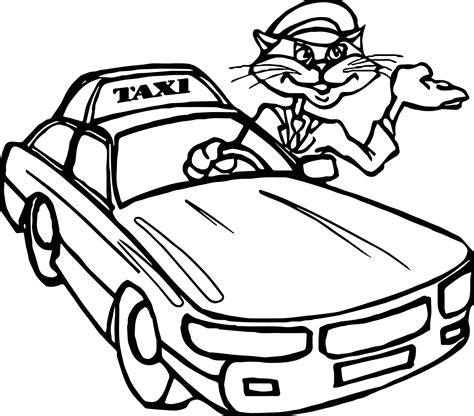 taxi car coloring page cute taxi coloring pages to print for kids taxi car