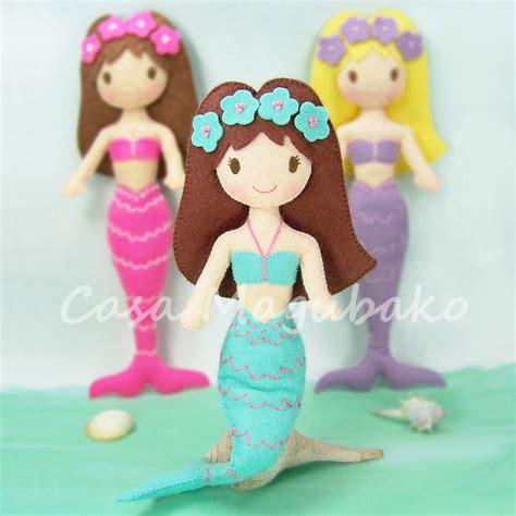 pattern for felt mermaid felt mermaid digital pattern diy hand stitched doll