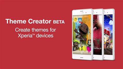 xperia theme creator download sony announces theme creator for xperia devices