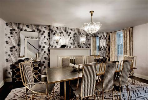Black and white dining chairs hollywood regency dining room dhd nyc