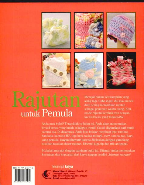 Tas Rajut Tapestry Kotak Kotak buku rajutan untuk pemula crafts