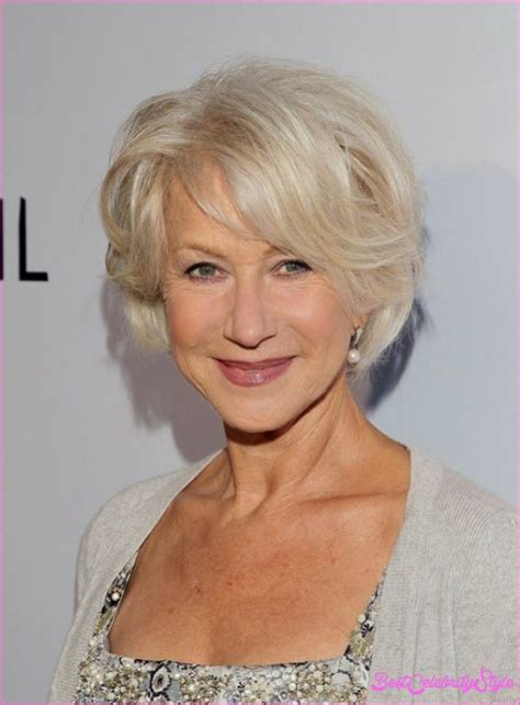 layered hairstyles women over 60 shiny blond layered bob for women over 60 helen mirren