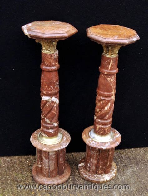 Pedestal Support Pair Marble Pedestal Support Columns Louis Xvi