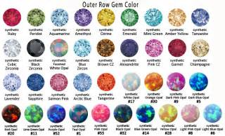 gem colors cuts and gemstone types images frompo