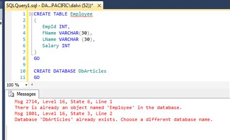sql server check if table or database already exists