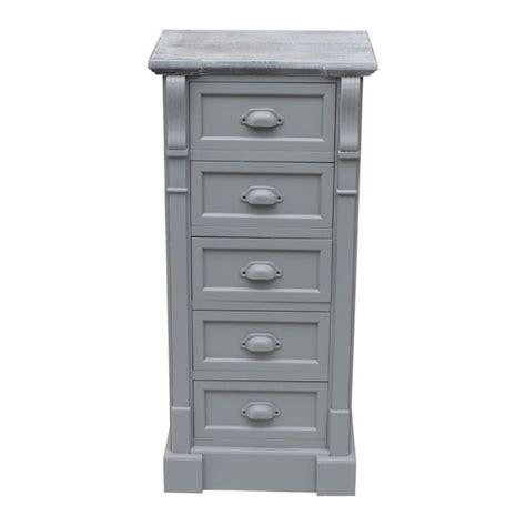 shabby chic tallboy 5 drawer shabby chic tallboy chest grey buy at