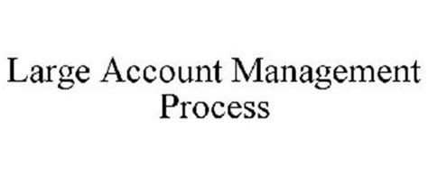 large account management process trademark of miller