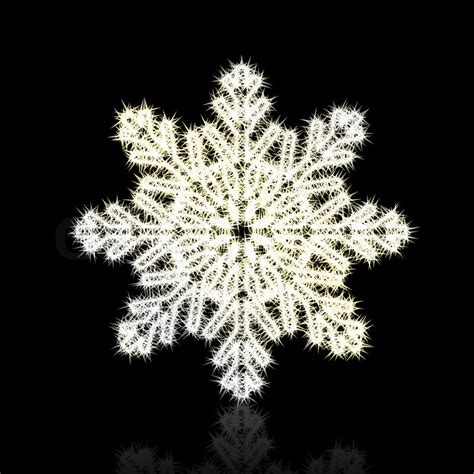 Christmas snowflake on black background   Stock Photo