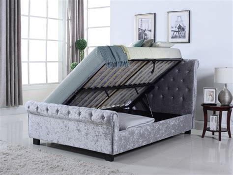 ottoman beds uk double flintshire furniture uk double whitford ottoman in silver