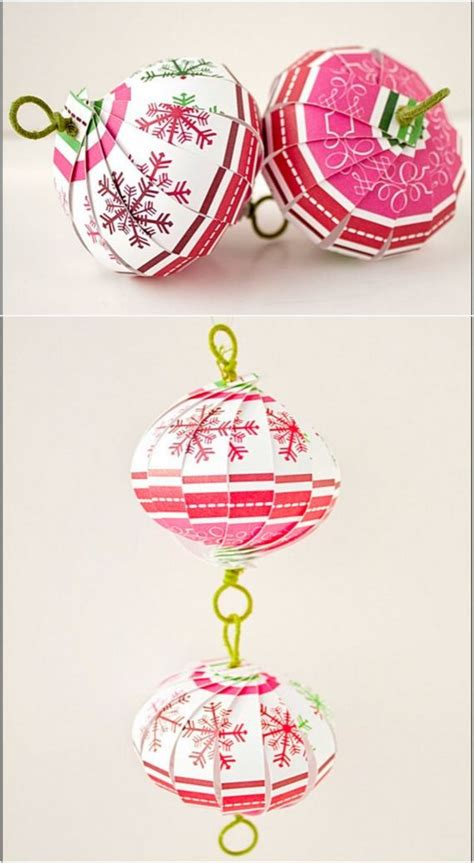 Make Paper Ornaments - diy ornaments made from paper