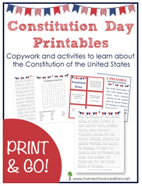 class constitution template free constitution day printables money saving 174
