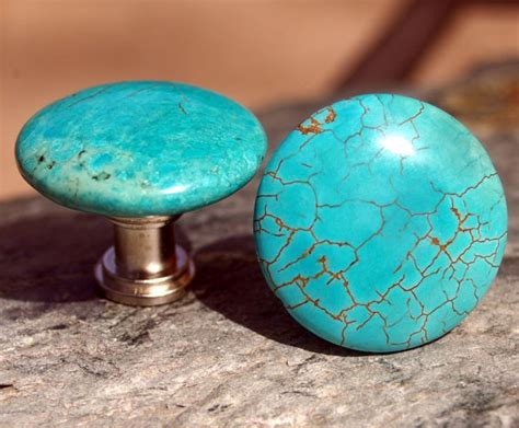 Turquoise Door Knobs by Turquoise Cabinet Knobs Or Drawer Pulls By