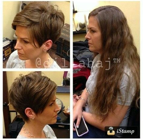 pixie cut before and after cute pixie cut before and after short hair pinterest