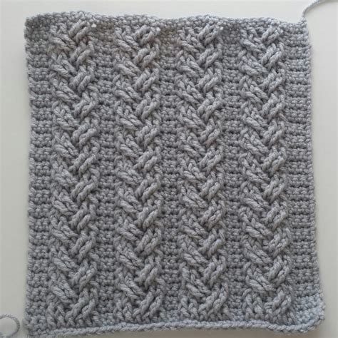 pattern part in french crochet cables single plaited cables part 2 rows 5 6