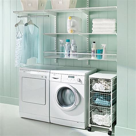 White Elfa Laundry Area The Container Store Laundry Container Store Laundry