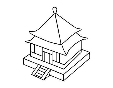 imagenes japonesas en dibujo dibujo de residencia japonesa para colorear dibujos net
