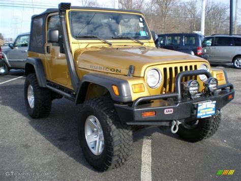 gold jeep inca gold metallic 2003 jeep wrangler rubicon 4x4 exterior