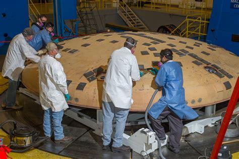 eft  orion crew module subjected  intense heat shield inspections americaspace