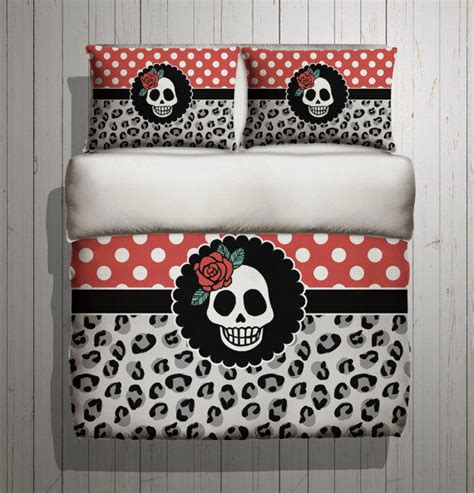 rockabilly bedroom rockabilly bedding with beatiful polka from inkandrags on etsy