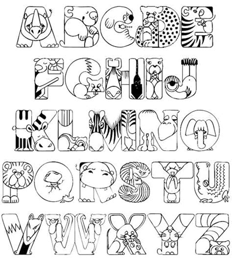Abc Animals Coloring Pages Kindergarten Printable Kids Coloring Page Kindergarten