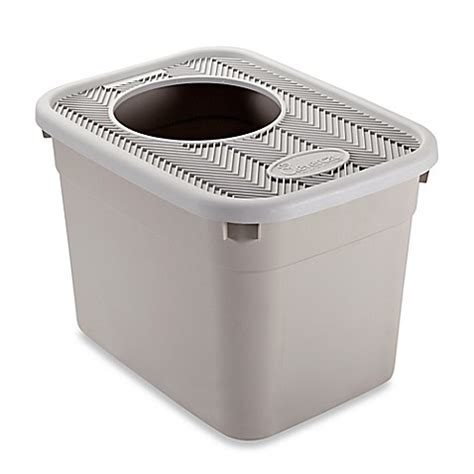 litter box in bedroom clevercat 174 top entry cat litter box bed bath beyond