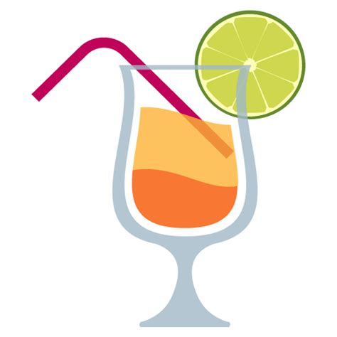 tropical drink emoji tropical drink emoji vector icon free vector