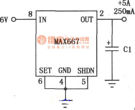 linear integrated circuit diagram the application circuit of the max667 multi functional linear integrated stabilizer 1 power