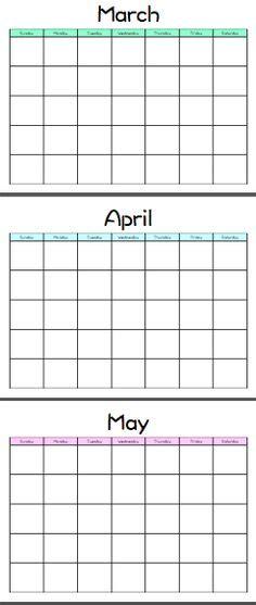 printable blank monthly calendars     blank monthly calendar