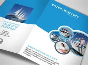 tour brochure template yacht tour bi fold brochure template
