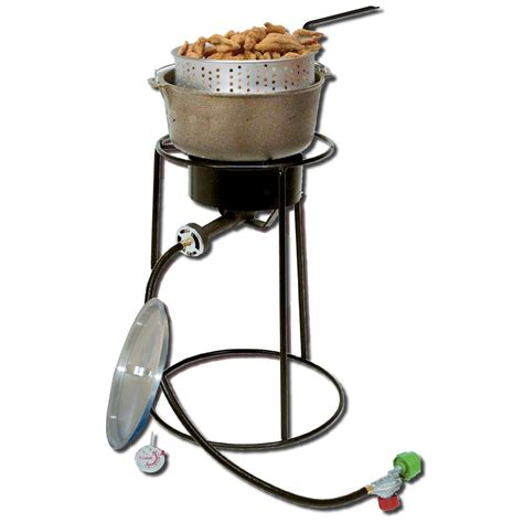 Cing Cooker With Grill by King Kooker 174 22 Quot Outdoor Cooker With Cast Iron Pot And
