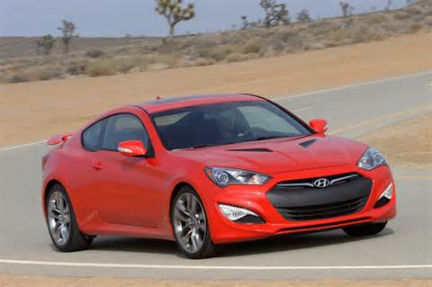 blistering the pavement in a 2013 hyundai genesis sport