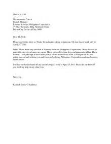 Resignation Letter Format Philippines Sle Of Resignation Letter In The Philippines Resume Layout 2017