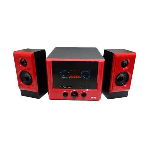 Stok Terbatas Speaker Mini Digital Box Mp3 jual mito 155b subwoofer system 2 1 speaker aktive merah