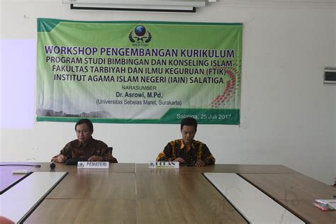 Bimbingan Dan Konseling Islam workshop pengembangan kurikulum program studi bimbingan